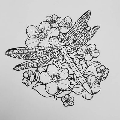 #neotraditional #dragonfly