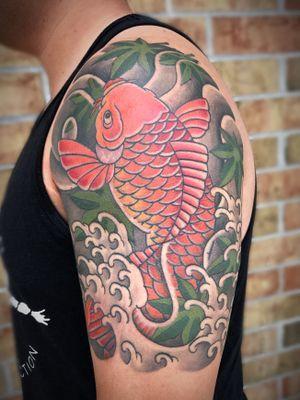 #nctattooers #japanesetattoo #tattoo #koi #raleigh #charlotte #philly #irezumi #jacksonvillenc #japanesestyle