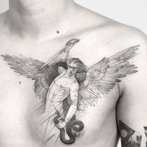 Angel #darkartists #tatuadorescolombianos #tatuadoresbogotanos #tattrx #inkstinctsubmission #tattooinkspiration #ttblackink #art_collective #arts_help #TATTOOTODO #anibal_tattoo #tattooartist #nyc #nyctattoos  #blxink #stabmegod