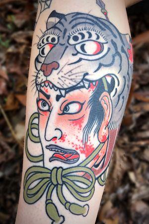 HEALED #nctattooers #japanesetattoo #tattoo #tiger #raleigh #charlotte #philly #irezumi #jacksonvillenc #japanesestyle #Namakubi