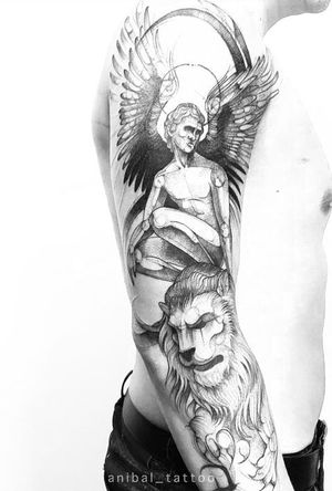 Angel . #darkartists #tatuadorescolombianos #tatuadoresbogotanos #tattrx #inkstinctsubmission #tattooinkspiration #ttblackink #art_collective #arts_help #TATTOOTODO #anibal_tattoo #tattooartist #nyc #nyctattoos #blxink #stabmegod