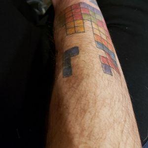 Tetris retro gamer badge.