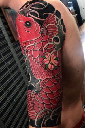 Clients first tattoo Japanese koi