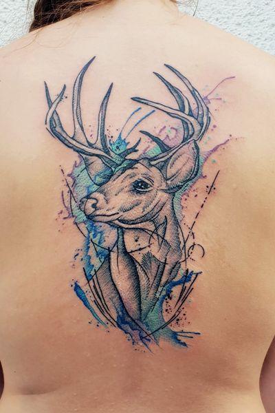 #kuro #kurotrash #tattoo #tattooing #tattoos #tattooed #tattooer #black #blackandwhite #blackwork #blackworkers #ink #inked #darkartists #darkart #onlythedarkest #blackarts #blackink #dotwork #tattooart #tattooartist #vienna #wien #sketch #graphicdesign #blackandwhite #geometric #graphic #deertattoo #deer #watercolor #watercolortattoo #watercolortattoos