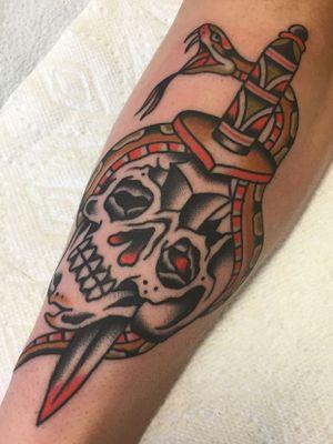 For tattoo appointments please email me at: jpgleasonworks@gmail.com #tattoo #tattoos #snaketattoo #skulltattoo #dagger #traditional #traditionaltattoo #traditionaltattoos #TraditionalArtist #trad