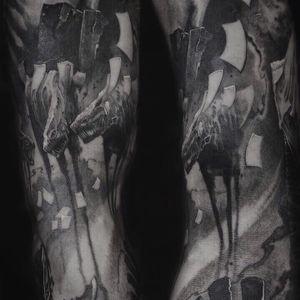 Part of sleeve , inspirarion by Kubitskiy Art