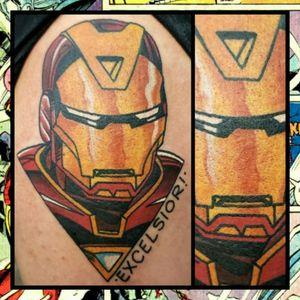 Iron Man... #inkfusion #inkfusionempire #geektattoo #geekedouttattoos #geeksterink #geekytattoos #comicbooktattoo #nerdytattoos #nerdtattoo #nerdtattoos #brightandbold #traditionaltattoo #realtattoos #realtraditional #tattoos #tattooflash #neotraditional #solidtattoo #lasvegastattooer #ironman #ironmantattoo #marvelcomics #marveltattoo