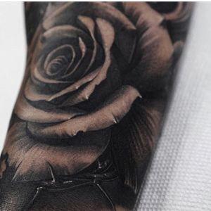 #rose #realism #realistic #thorns #blackandgrey #sleeve