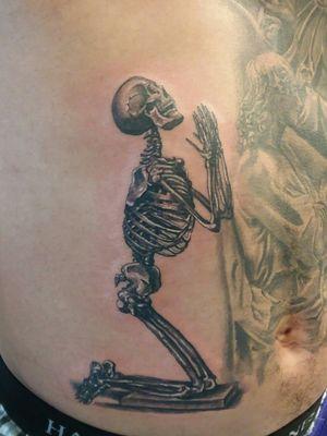 #skeletontattoo #blackandgrey #tattoosbyescobar #inkrepute