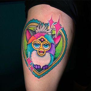 Tattoo by Jon Leighton #JonLeighton #90stattoos #90stattoo #90s