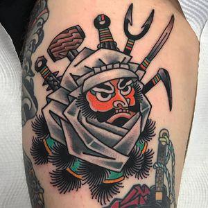 Tattoo by Koji Ichimaru #KojiIchimaru #Japanesetattoo #Irezumi #color #portrait #warrior