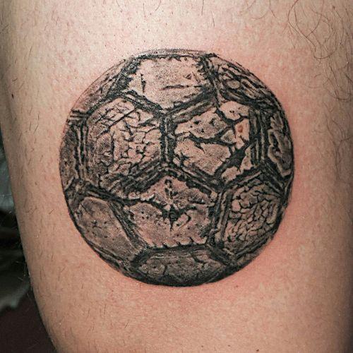 Soccer ball tattoo