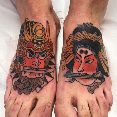 Tattoo by Koji Ichimaru #KojiIchimaru #Japanesetattoo #Irezumi #doot #geisha #samurai