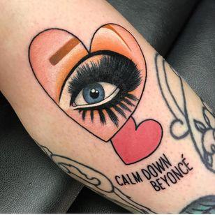 Tattoo by Hattie Cox #HattieCox #dragqueentattoos #dragqueen #RupaulsDragRace #dragrace #dragshow #rupaul #color #neotraditional #newschool #portrait