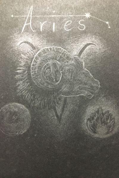 Aries 🔥 #aries#zodiac#goat#fire#mars#blackpaper