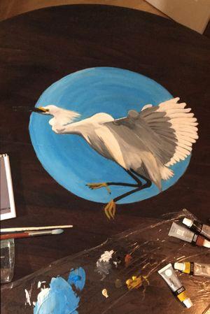Bird in flight #bird#egret#colour#painting