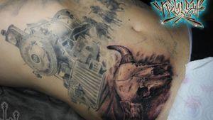 #process #tattooprocess #blackandgrey #blackandgreytattoo