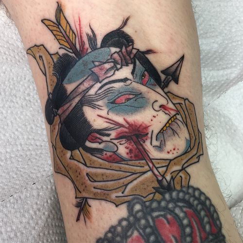 #Namakubi #japanesetattoo #japanese #tattooartist #tattooer #tattooed #tätowieren #germany #tattooing #severedhead #classictattoos