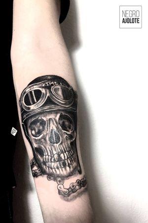 #skulltattoo #skull #tattoodesign #motorcycle