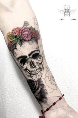 #skulltattoo #skull #tattoodesign #fridakahlo