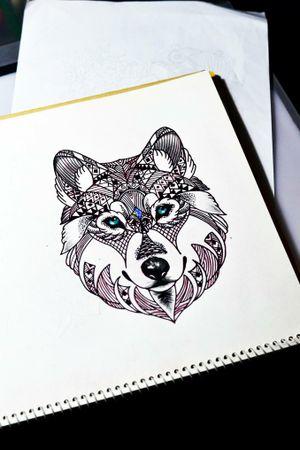 #wolf #lobo #tattoosketch #thiagopadovani