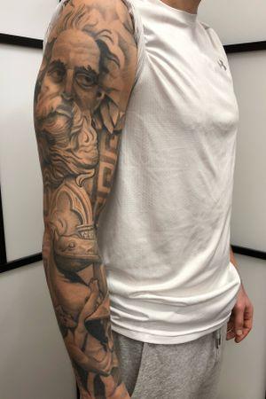 Finished and healed  #tattoo #blackandgrey #TattooSleeve #sleeve #tattooartist