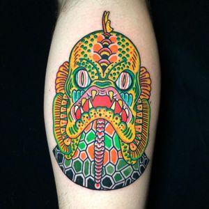 Tattoo by Deno #Deno #tattoodoambassador #toptattoos #color #filmtattoo #creaturefromtheblacklagoon #creature #fish #oceanlife