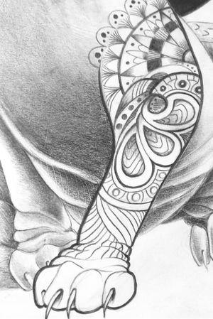 Close up of a Sphynx sketch ~ #cat #sphynx #mandala #sleeve #sketch #drawing #closeup #goldcoastaustralia