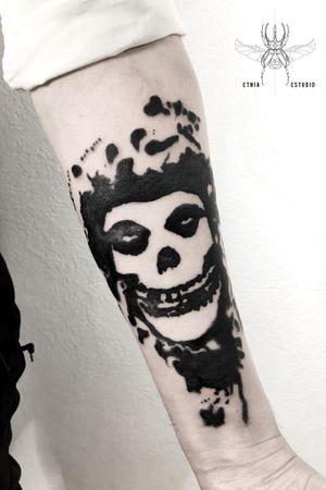 Colaboración con @Cahualo #skulltattoo #skull #tattoodesign #misfits
