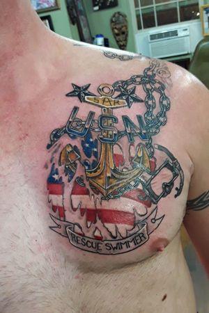 #navytattoo #SARswimmer#anchortattoo#colortattoo#tattoosformen#militarytattoos