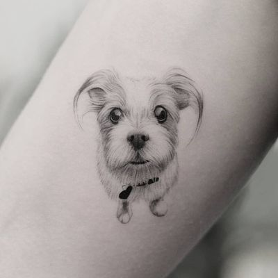 """""""I love youwithoutknowing howor when orfrom where.I love yousimply, withoutproblems or pride."""" —Pablo Neruda Done @truecanvas #tat #tats #tattoo #tattoos #ink #inked #inkedlife #freshlyinked #realism #realistictattoo #miniature #smalltattoo #dog #unconditional #love #dogs #dogsofinstagram #canine #think #vienna #truecanvas"""