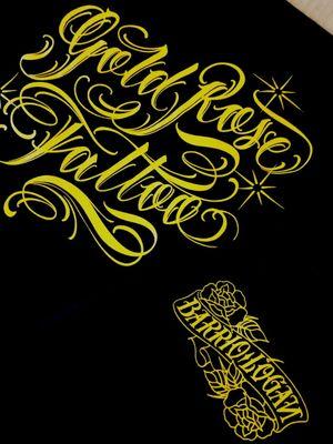Another Gold Rose shop t shirts I designed