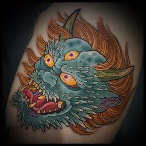 Tattoo by Matt Beckerich #MattBeckerich #Japanese #Irezumi #FountainheadNY #color #oni #demon #thirdeye