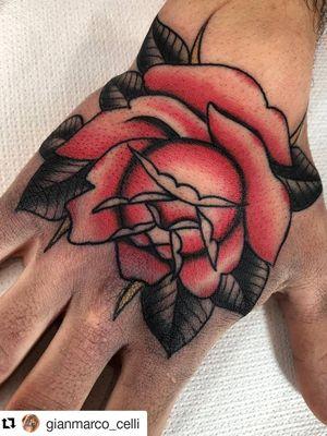 Rose today!!! Thank you • • @best_italian_tattooers @besttraditionaltattoo @besttradtattoos @inkedlegion @rad_trad_tattoo @iltatuaggio @tatuaggio_tradizionale @onlysolidtattoo @traditionalartist @traditionalkings @tradworker_tattoo @tradworker