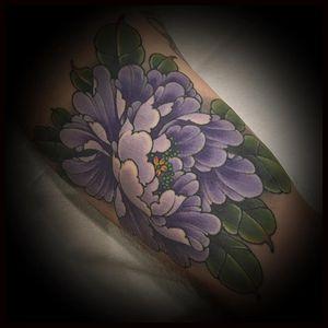 Tattoo by Matt Beckerich #MattBeckerich #Japanese #Irezumi #FountainheadNY #color #peony #flower #floral