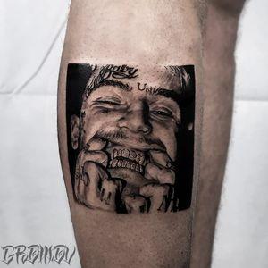 Tattoo by Sergey aka Gromov Tatt #Sergey #GromovTatt #SergeyGromov #musiciantattoos #musician #portrait #music #blackandgrey #LilPeep #realism #realistic #hyperrealism #rapper #grill