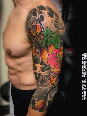 Lotus Japanese sleeve #lotus #japanesesleeve