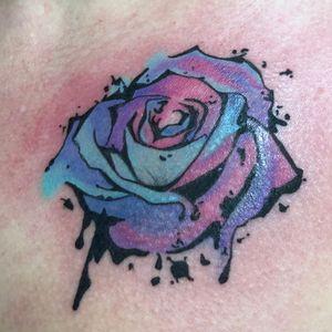 Graffiti Rose tattoo using StarBrite Inks