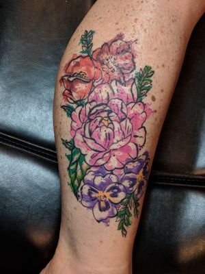 #floraltattoo #watercolortattoo #watercolorflowers #girlytattoos