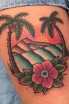 Hawaii beach tattoo