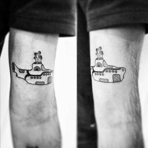 #YellowSubmarine #tattooart #tattooapprentice #tattooartist #thebeatlestattoo #brasiltattoo