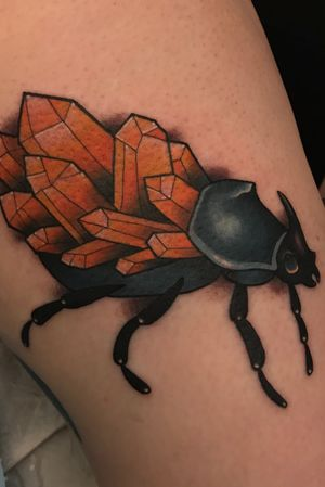 Crystal insect tattoo