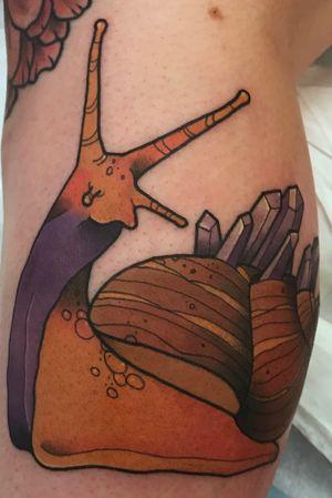 Crystal snail tattoo