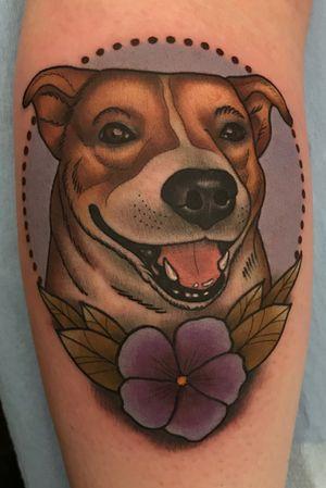 Pet portrait dog tattoo