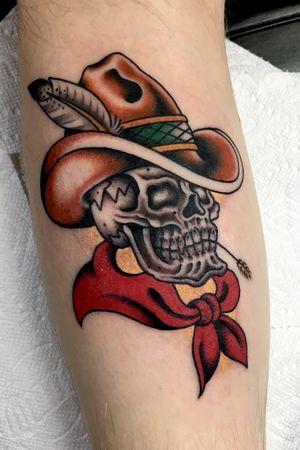 #texas #tattooartist #cowboy #skull #skulltattoo
