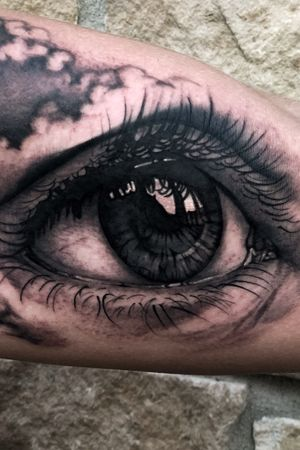 Realisic eye filler #eyetattoo #tattoosleeve #eye #blackandgrey #austintx #austintexas #ATX #california #losangeles #texas