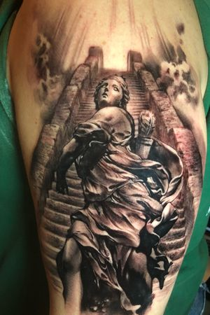Stairway to heaven. 1 day session. Bigctattoos@gmail.com or 6264560223 to book
