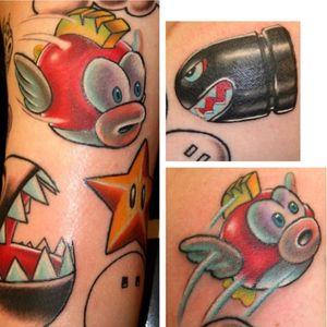Some super mario tattoos.