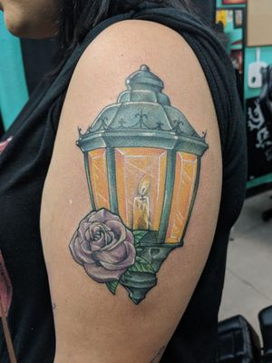 Lantern & rose
