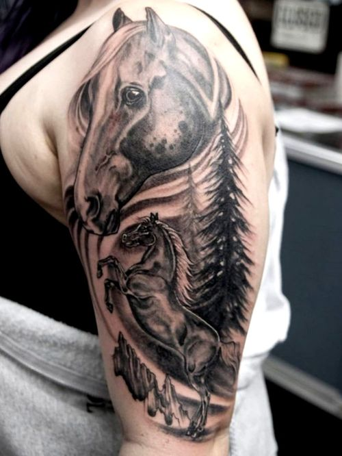 Tattoo done by Culleton #horse #HorseTattoos #blackandgrey #blackandgreytattoo #sandiego #sandiegotattoos #sandiegoartist